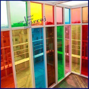 شیشه ساده در رنگ های متنوع
